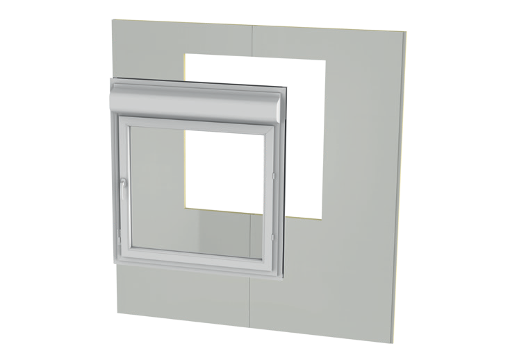 Fitting of the window inside the panel